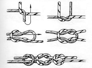 Узел для соединения шнура с монолеской