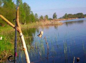 Береговая ловля на реке